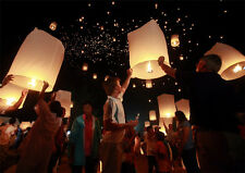 10Pcs Chinese Sky Flying Lanterns Fire KongMing Light Wishing Lamp Wedding Party