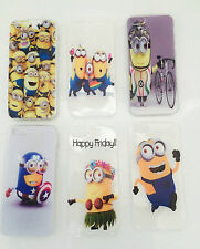 Despicable me minions Ultra Slim Clear Soft TPU Rubber case cover iPhone 4, 5, 6