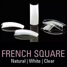 White Clear 500pcs False Nail French Square Tip UV Gel Nail Manicure Art Acrylic