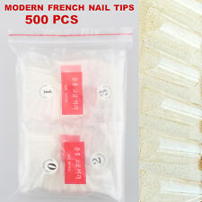 White Clear 500pcs Morden French False Nail Tip UV Gel Nail Manicure Art Acrylic