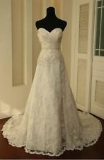 New White / Ivory Wedding Dress Gown Bride Dress Stock Size 6 8 10 12 14 16