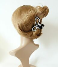 Cubic decorative Bow Knot hair jaw claw clamp  Rhinestone Series-13