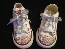 Swarovski crystal customised converse bling Youth kids children