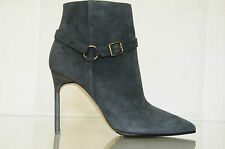 NEW MANOLO BLAHNIK BB Rhecha Teal 105 Suede Ankle BOOTS SHOES Heels 36.5 37 41