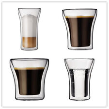 Bodum ASSAM Double Wall Clear Juice Mugs Coffee Glass Cup Glasses Espresso cups