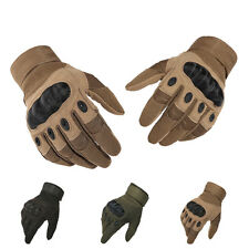 Tactical Motorcycle Airsoft Paintball Cycling Carbon Knuckle Full Finger Gloves