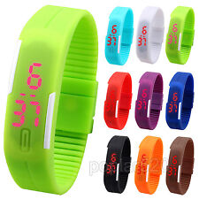 Men Womens Stylish Waterproof Digital Wrist Watch Silicone LED Sport Bracelet