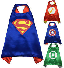 New Children Super Hero Capes Fancy Costume Outfit For Kids Boys Girls Birthday