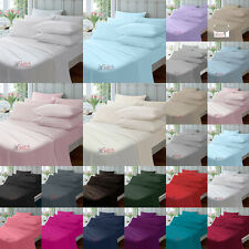 """EXTRA DEEP 40CM 16"""" FITTED PERCALE SINGLE DOUBLE KING SUPER KING SHEETS"""