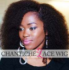 Curly Lace Full/Front Wigs Black Women Indian Remy Human Hair Afro Kinky Curly