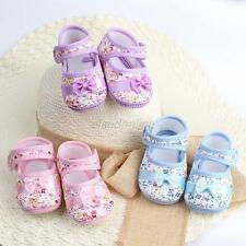 Baby Girl Kid Flower Crib Shoes Toddler Infant Soft Sole Bowknot Shoes Prewalker