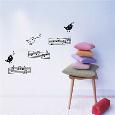 Music By Birds Vinyl Art Removable Wall Sticker Wall Home Decor Mural DIY Decals
