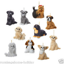 C4692 Furry Plush Dog Puppy Christmas Craft Ornament Decoration Pet Best Friend