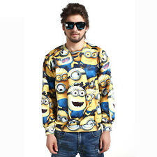 2015 Women Men Despicable Me Minion 3D Sweater Sweatshirt Hoodie Pullover Top
