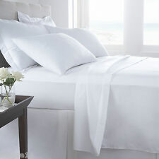 Luxury 100% Egyptian Cotton Fitted & Flat Sheets 400 and 200 Thread Count