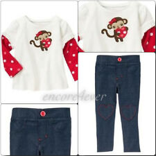 NWT GYMBOREE Valentines Day Top & Jeans Leggings Outfit 2T