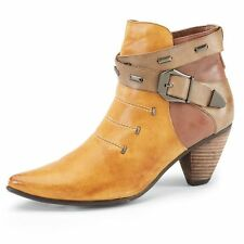 Elinore Color Block Leather Cowgirl Booties