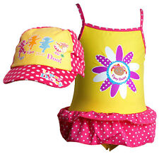 In The Night Garden Girls Upsy Daisy Swimsuit & Baseball Peak Cap/Hat 2 Pc Set