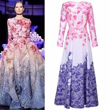 New Women Boho Floral Long Sleeve Vintage Party Cocktail Evening Prom Maxi Dress