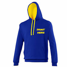 Mens / Adults Custom Printed Varsity Hoodie Personalised Hooded Sweatshirt
