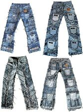 TICILA Seven Star Biker Hardcore Denim Shreds Jeans 30/31/32/33/34/36/38/40/42