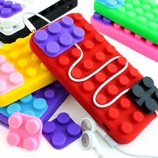 For Apple iPhone 5 5s Colorful Toy Blocks Silicone Rubber Gel Soft Case Cover