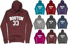 Boys Boston Printed Hoodie Kids Hoody Fleece Top Sweatshirt Hooded Jacket Size