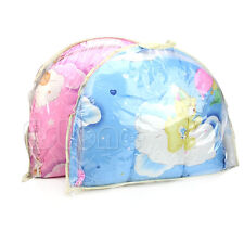 New Portable Bed Crib Mosquito Net Baby Infant Foldable Cushion Mattress Pillow