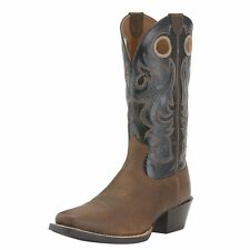 Ariat Sport Square Toe Earth/Black Western Cowboy Boots 10015314 -NIB