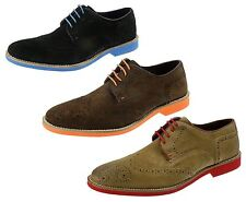 Red Tape Mens Brogue Desert Suede Leather Lace Laxford Shoes Brown