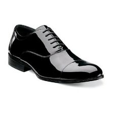 New Stacy Adams Mens Tuxedo shoes Gala Black Patent Leather lace up 24998-004