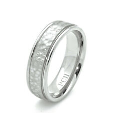 Hammered Men's Titanium Wedding Ring Engagement Band 7 MM Comfort Fit
