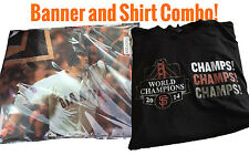 SF GIANTS 2014 WORLD SERIES CHAMPIONS BANNER FROM 5/31 GAME GIVEAWAY