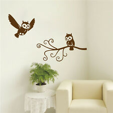 Owl On The Tree Vinyl Art  Wall Sticker Nursery Home Decor DIY Mural Decals