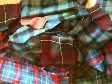 GENUINE SCOTTISH TARTAN PATCHWORK MIXED SIZE OFFCUTS off cuts PER WEIGHT wooL