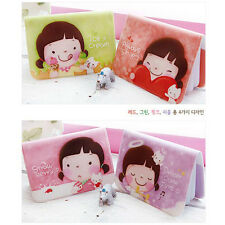 Sweet Cartoon Cooky Girl Printed Card Holder Cute Mini