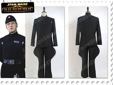 Star Wars Imperial Officer Costume Cosplay Stormtrooper Black Uniform size S-XL