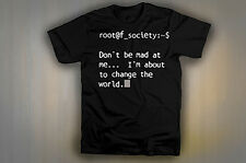ROOT SOCIETY  TEE SHIRT LIKE THE MR. ROBOT AMC SHOW!  Free Shipping!  LOOK!