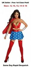 Sexy Wonder Woman Fancy Dress Costume Outfit UK Seller Size 8-16 Plus Size