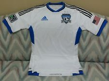 Adidas San Jose Earthquakes White  Authentic Formotion Soccer Jersey S, M, L