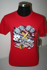 "CHICAGO BLACKHAWKS - YOUTH - ""MAJESTIC""  CREW NECK TEE SHIRT - NWT - LICENSED"