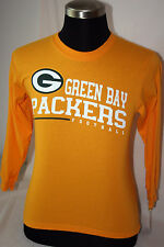 "GREEN BAY PACKERS GOLD YOUTH LONG SLEEVE ""REEBOK"" COTTON SHIRT - NWT - LICENSED"