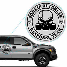 Zombie Outbreak Response Team Featuring a Gas Mask Vinyl Decal Sticker #819