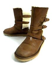 Ugg Australia 1005380 BECKET Water Resistant Chestnut Leather Strapped Boots 8