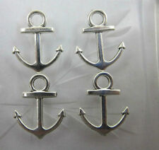 wholesale Tibet Tone Two-Sided Anchor Jewelery Charm Pendants 19x15mm