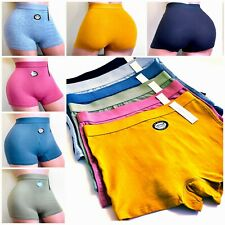6 Boyshorts Sports ACTIVE WEAR Seamless Panties Undies Multi-Colors TEAM107 S-XL