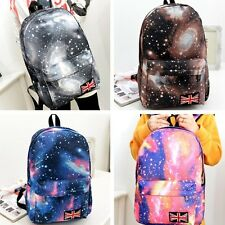 UK Zaini Donne Ragazze Galaxy Stella Zainetto Borsa Tela Canvas Scuola Backpack