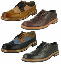 DARBY LIMIT MENS CLARKS LEATHER LACE UP SMART FULL BROGUE FORMAL SHOES SIZE