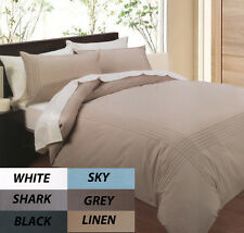 Pintuck Quilt Cover Set Grey Polyester Cotton New Phase 2 Bedding Online