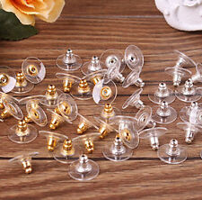 100pc Earring Backs Stoppers Findings Ear Post Nuts Jewelry Findings Gold/Silver